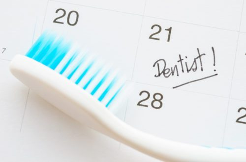 Dentist appointment date on calendar.